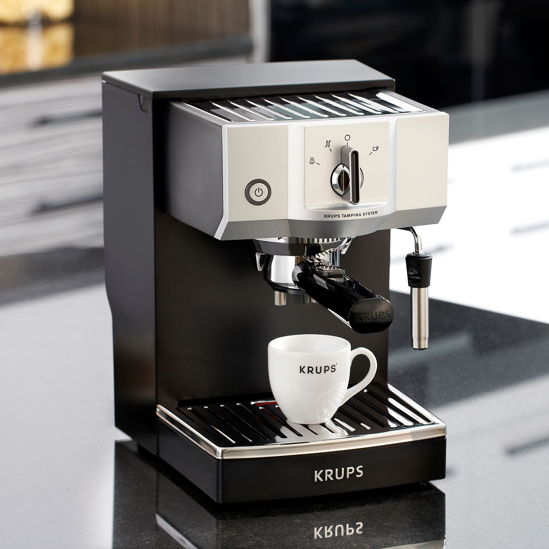 Italian Coffee Maker John Lewis : Buy KRUPS XP5620 Espresso Coffee Machine, Black John Lewis